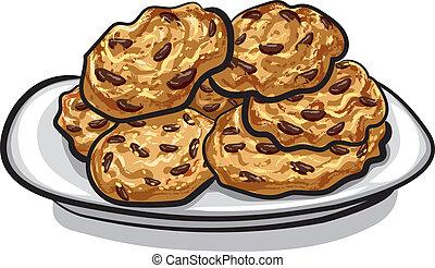 biscuits, flocons avoine