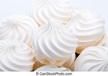 biscuits, fond, vanille, meringue, francais, blanc