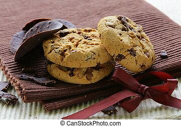 biscuits, fragment chocolat, croquant