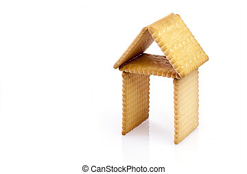 Biscuits in the shape of a house