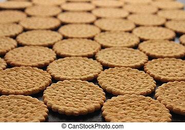 lie on a wooden board cookies infinitely