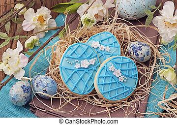 biscuits, paques, coloré