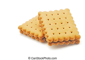 Biscuits on white background