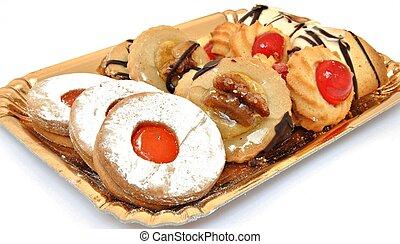 biscuits, plateau