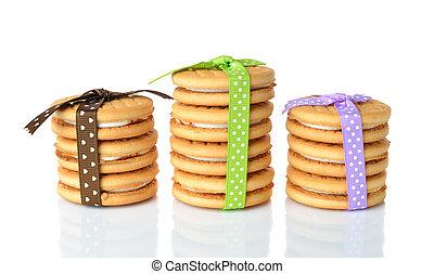 biscuits, rubans, décoré