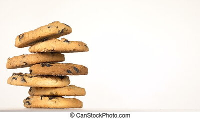Biscuits with chocolate raisins
