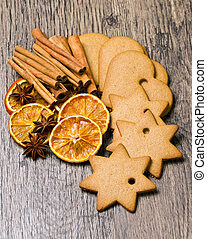 biscuits with cinnamon and orange dried