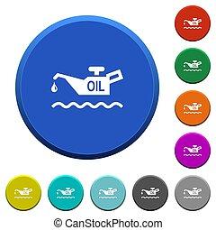 biselado, indicador, aceite, botones, nivel