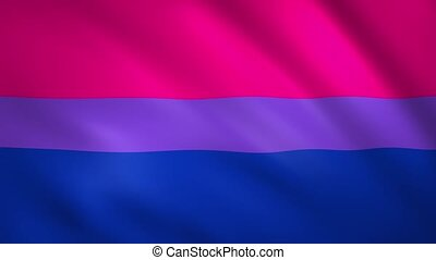 Bisexual pride flag moves in the wind