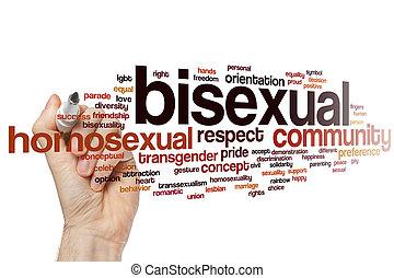 Bisexual word cloud concept