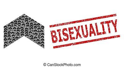 bisexuality, の上, recursive, 傷付けられる, 構成, 切手, シール, 方向, 項目