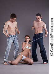 bisexuel, hommes, chaîne, femmes