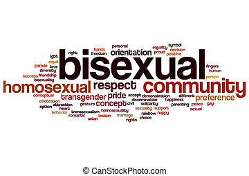 bisexuel, mot, nuage
