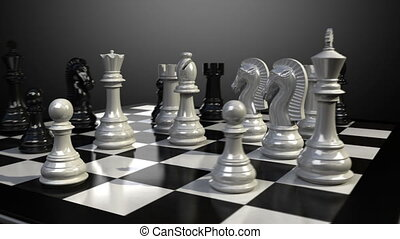 Bishop chess fall down animation. - Put the bishop on a...