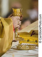 Bishop during Holy Communion