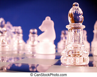 bishop in focus on chess board