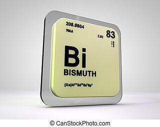 bismuth - Bi - chemical element periodic table 3d render
