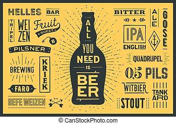 bisogno, manifesto, tutto, birra, lei