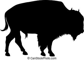 Abstract vector illustration of buffalo