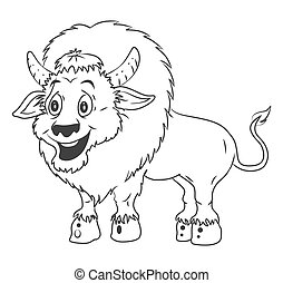 Bison Cartoon Illustration