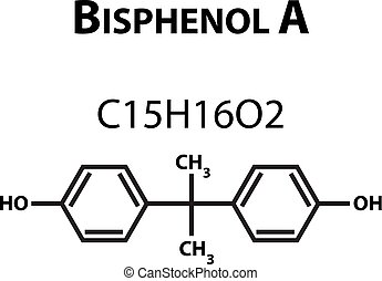 Bisphenol A. Chemical formula. Infographics. Vector...