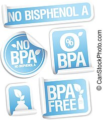 Bisphenol A free products stickers.