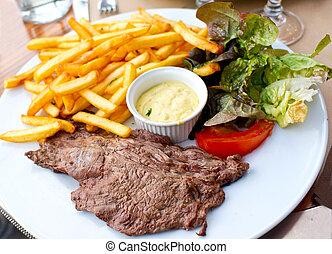 bistecca, succoso, manzo