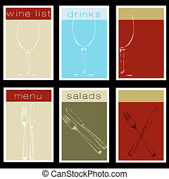 bistro, set, steakhouse, o, menu