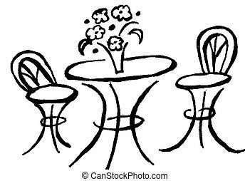 bistro, stół