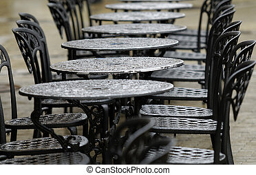 Bistro table - bistro tables on a rainy day
