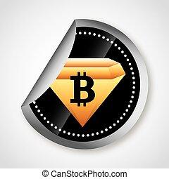 bit coin design, vector illustration eps10 graphic