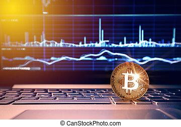 bitcoin, à, blockchain, concept