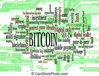 bitcoin, 単語, 雲