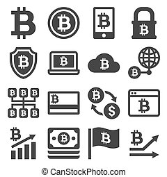 bitcoin, 圖象, 集合