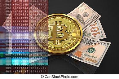 bitcoin, 3d