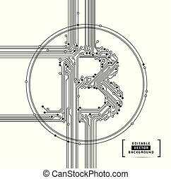 Bitcoin abstract business background vector