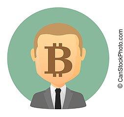 bitcoin, avatar, signe