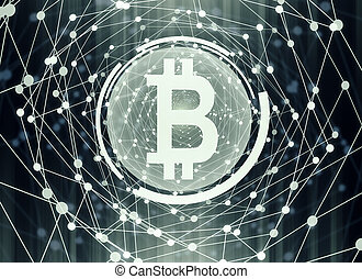 Bitcoin background - Creative digital bitcoin background....