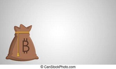 bitcoin bag ecommerce animation