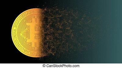 Bitcoin blockchain crypto currency digital encryption...