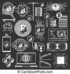 Bitcoin blockchain, cryptocurrency, digital money