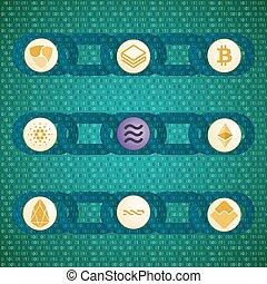 bitcoin, blockchain, libra, eos, ethereum, monedas., waves...