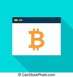 Bitcoin Browser Flat Icon