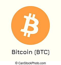 Bitcoin (BTC). Vector illustration crypto coin ic - Vector...