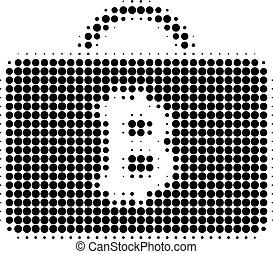 Bitcoin Case Halftone Dotted Icon