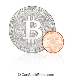 bitcoin, cent, une