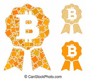 Bitcoin certificate seal Mosaic Icon of Tremulant Parts