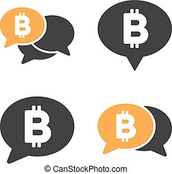 Bitcoin Chat Vector Icon Set - Bitcoin Chat vector icon set....