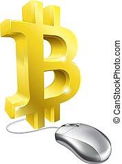 Bitcoin Computer Mouse Concept