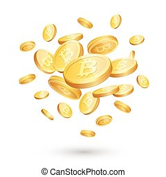 Bitcoin concept vector illustration